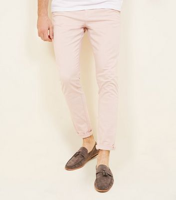 Pink Skinny Stretch Chinos by New Look