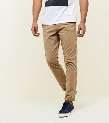Stone Slim Chino Trousers