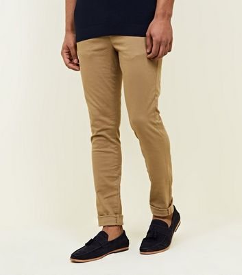 Stone Super Skinny Chino Trousers