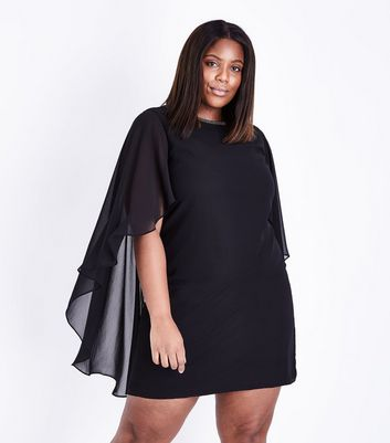 Mela Curves Black Diamante Embellished Kimono Sleeve Dress