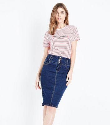 New Look Denim Pencil Skirt Online Sale Buy Cheap Wholesale Price Outlet Latest RcxurUZH
