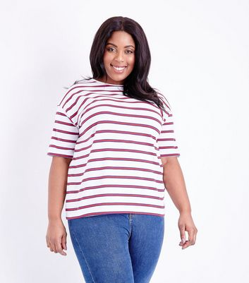 Curves Red Stripe Boxy T-Shirt