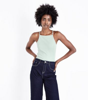Mint Green Square Neck Cami