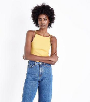 Yellow Square Neck Cami