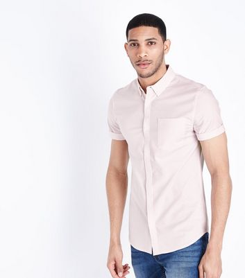 Pink Stripe Muscle Fit Oxford Shirt