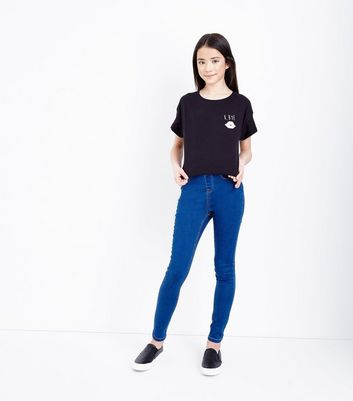 Teens Blue 2 Back Pocket Jeggings