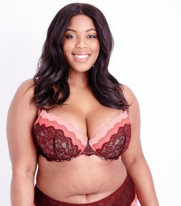 Curves Ombre Lace Push Up Bra