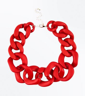 Red Chain Choker Necklace