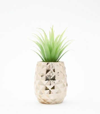 Gold Pineapple Artificial Plant