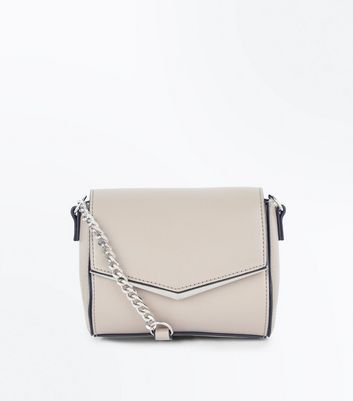 Pale Grey V Front Micro Shoulder Bag