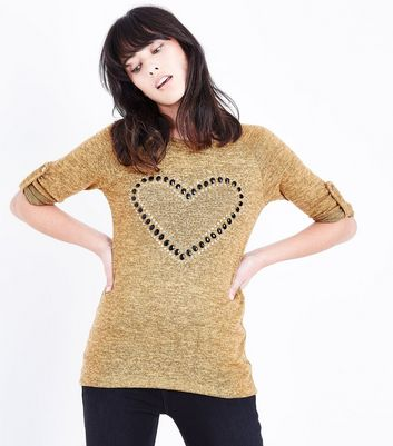 Cameo Rose Yellow Studded Heart Top