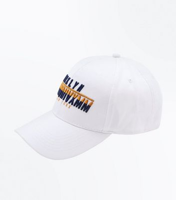 White Brooklyn New York Logo Cap