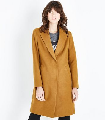 Gold Longline Collared Coat