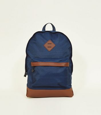 Bright Blue Handle Top Backpack