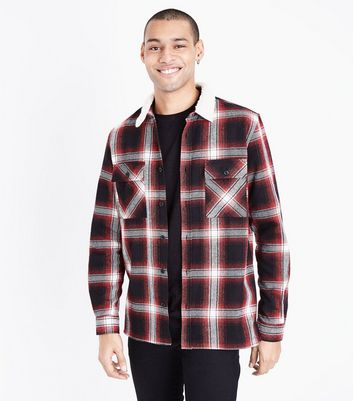 Red Borg Collar Check Shirt