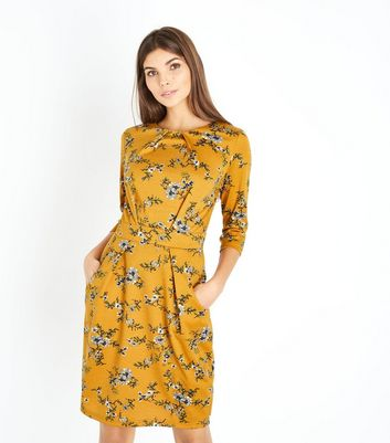 Yellow Floral Tulip Dress