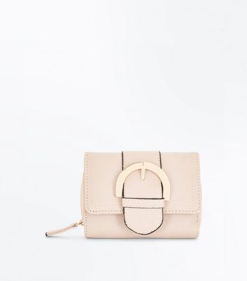 Nude Buckle Front Purse