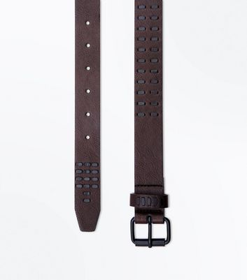 Dark Brown Studded Belt