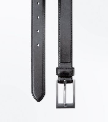 Black Faux Leather Formal Belt