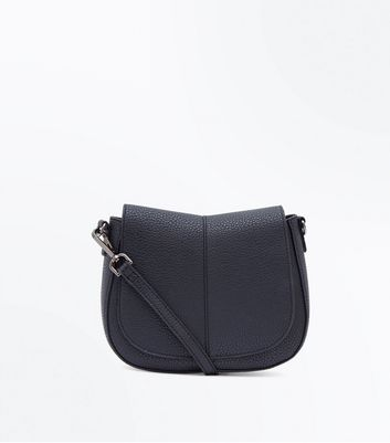 Black Foldover Saddle Bag