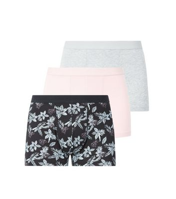 3 Pack Pink Floral Trunks