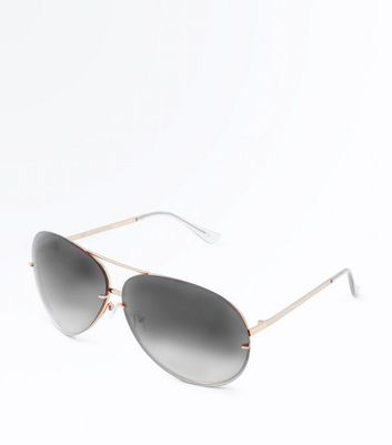 Black Oversized Aviator Style Sunglasses
