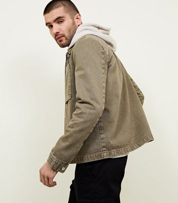 Olive Green Popper Front Shacket