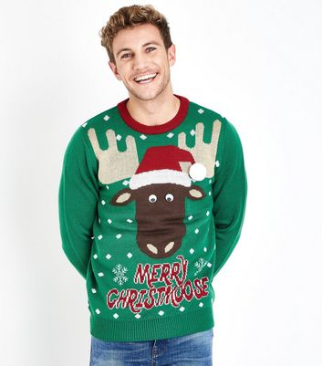 Green Reindeer Christmas Jumper