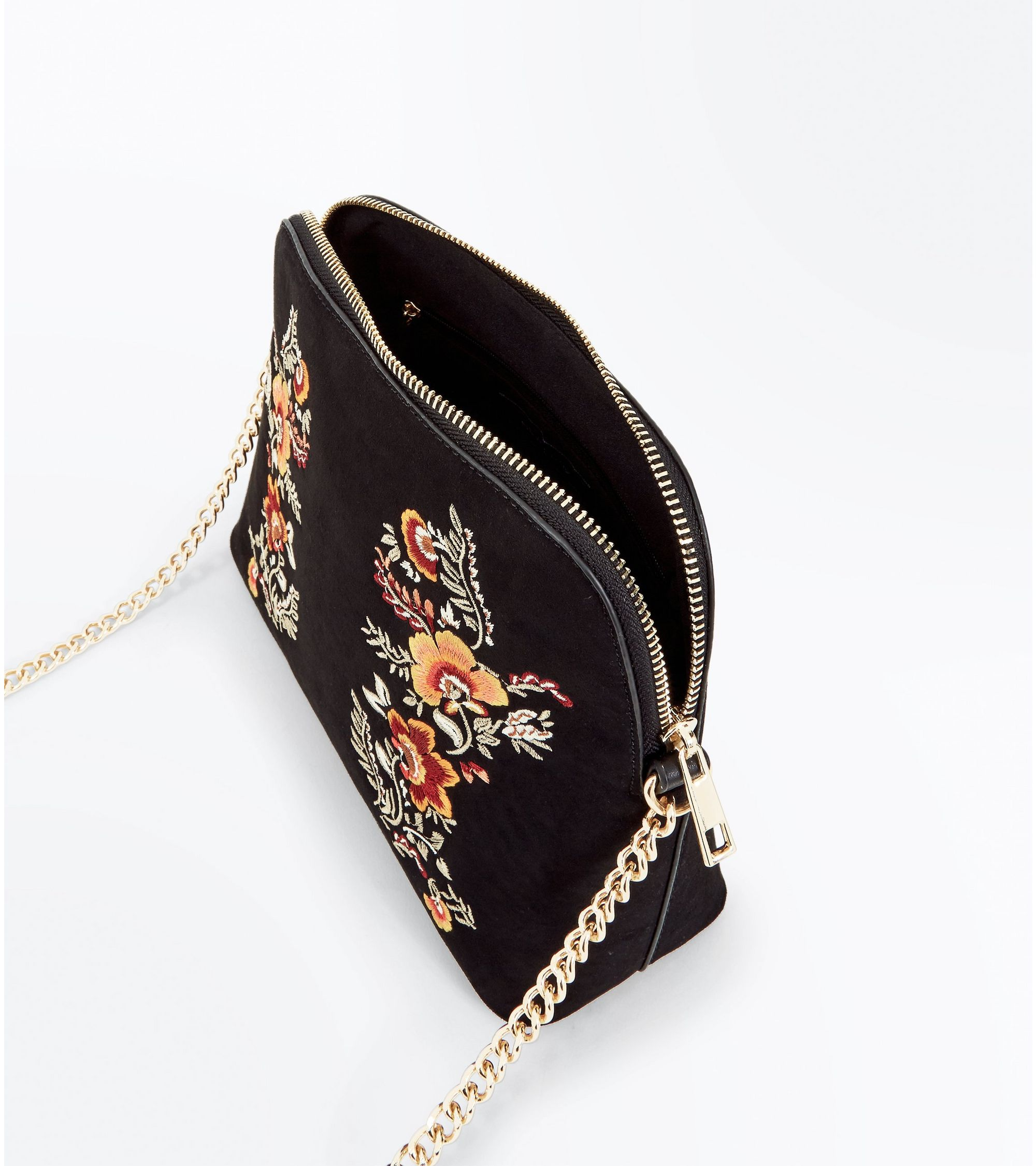 8bac8a4edfed New Look Black Embroidered Cross Body Bag at £15.99
