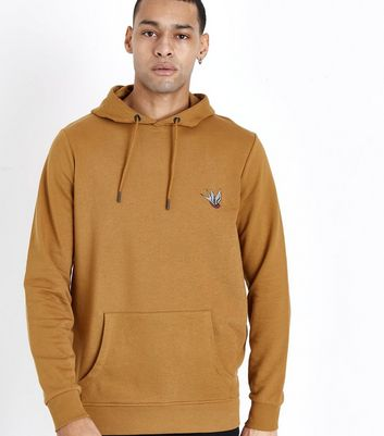 Camel Swallow Embroidered Hoodie