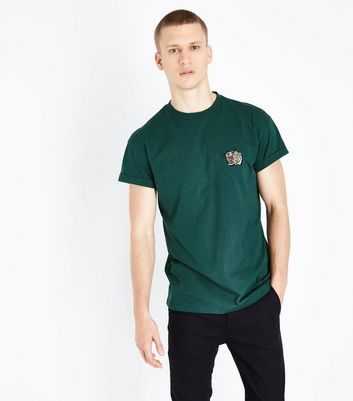 Teal Embroidered Tiger T-Shirt