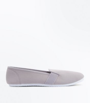 Tennis Slip On grises en toile
