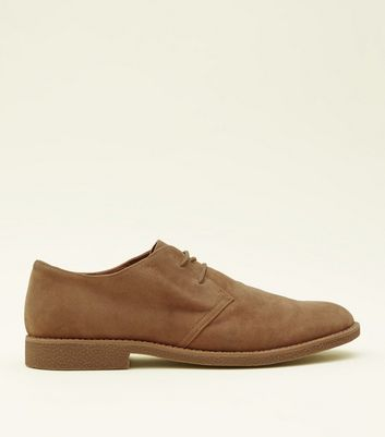 Stone Faux Suede Desert Shoes