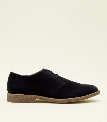 Navy Faux Suede Desert Shoes