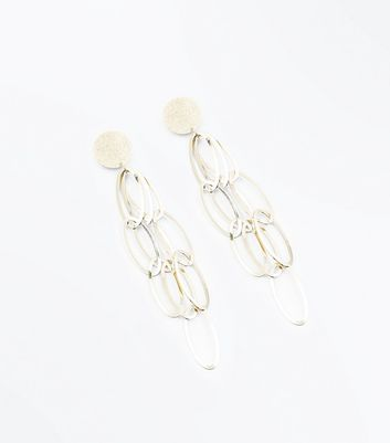 Gold Oval Chain Link Earrings