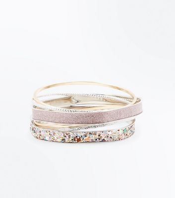 Multi Coloured Glitter Bangle Pack