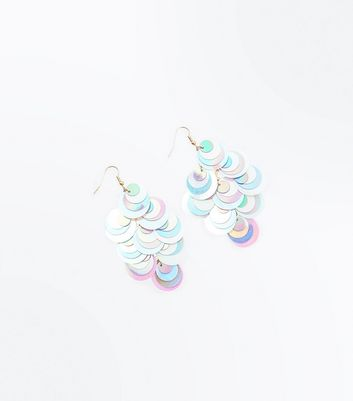 Multi Coloured Sequin Drop Earrings