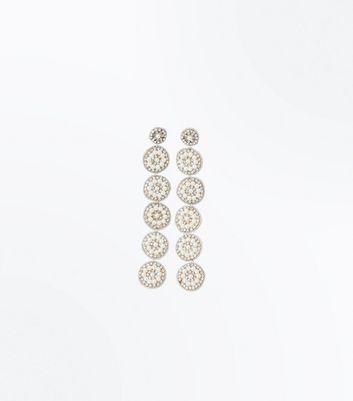 Cream Pearl Flower Drop Earrings