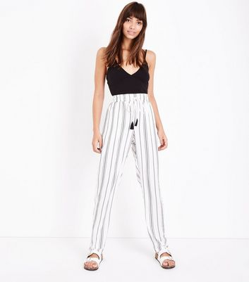 Tall White Stripe Joggers