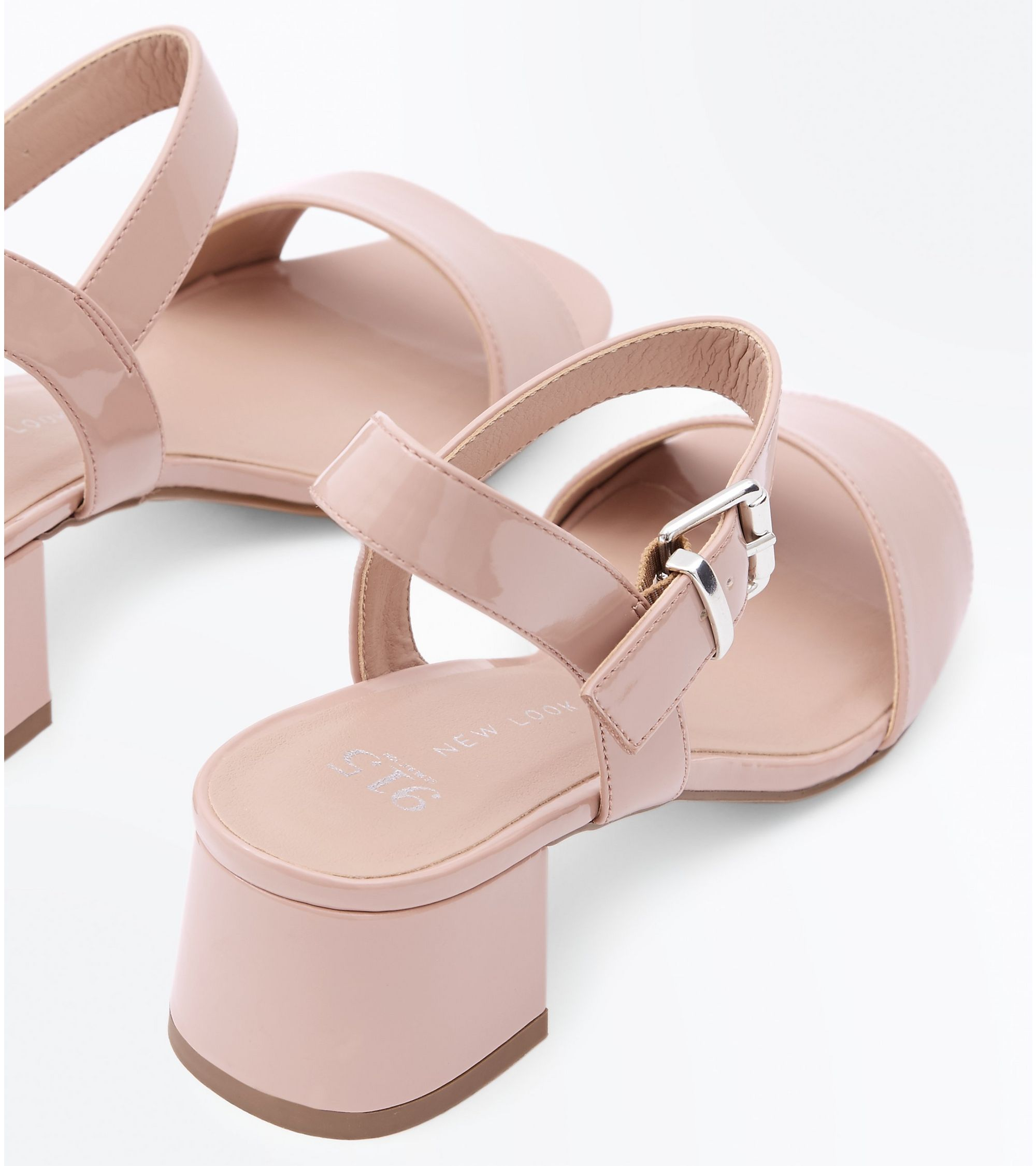 a7624050f4 New Look Girls Nude Patent Block Heel Sandals at £15 | love the brands