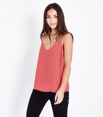 Petite Mid Pink Strap Back Cami