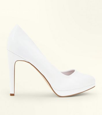 White Round Toe Platform Courts