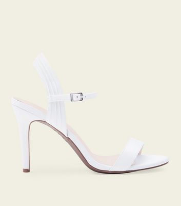 Off White Comfort Flex Satin Ruched Wedding Sandals by New Look