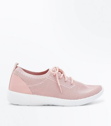 Pink Knit Trainers