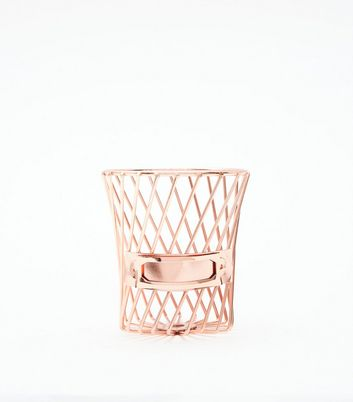 Rose Gold Wire Pen Pot by New Look
