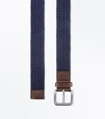 Navy Woven Elasticated Belt