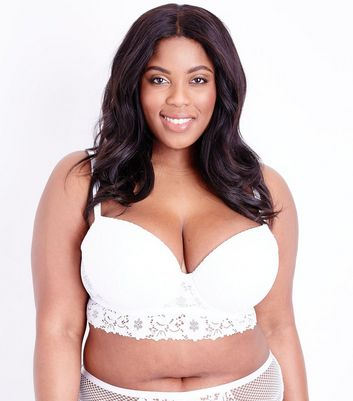 Curves Cotton Lace Longline Bra
