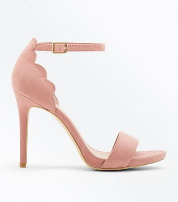 Wide Fit Pink Scallop Edge Stiletto Heels