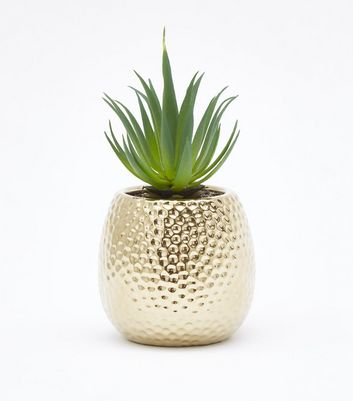 Gold Embossed Artificial Plant