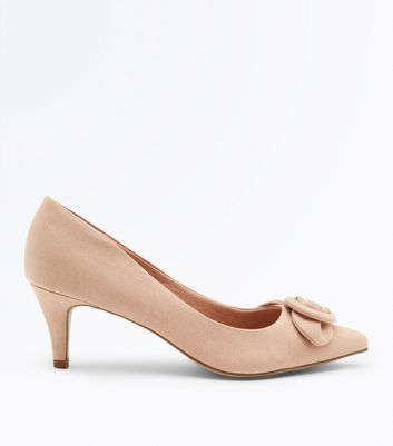 Cream Comfort Flex Suedette Buckle Toe Courts